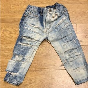 Other - Susie custom denim jeans kids bleached and ripped